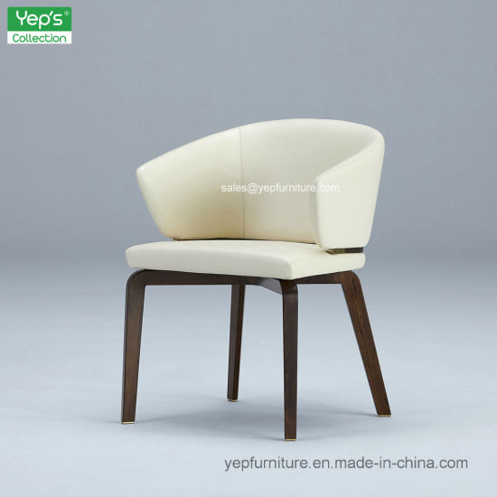 Modern Upholstered Leather Dining Chair Comfortable Armchair Yc541