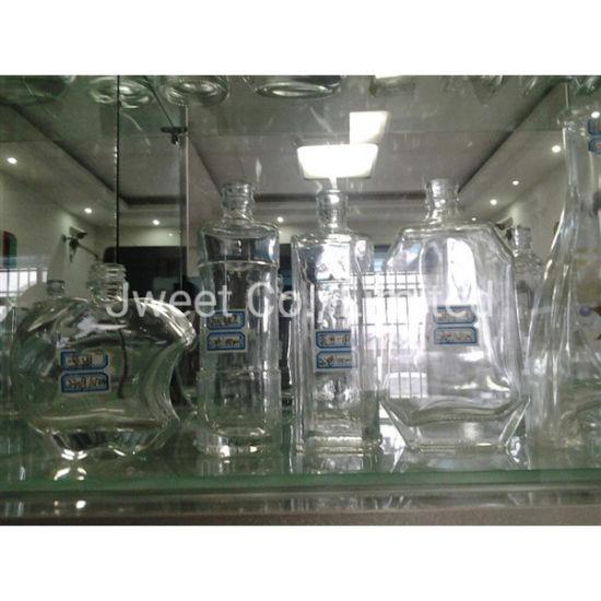 OEM Square Super Flint Glass Transparent 750ml Tequila Spirit Bottle