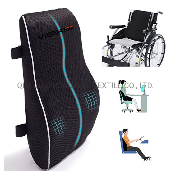 Mypillow Good Quality China Factory Cheaper Price Large Memory Foam Back Cushion for Office Chair or Car with Healthy