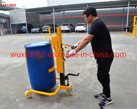 Pedal Hydraulic Drum Carriers Manual Drum Pallet Truck for 350kg