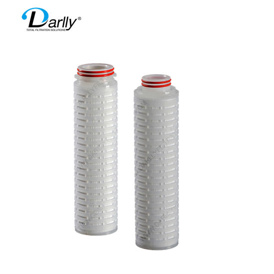0.22/0.45 Microns Asymmetric Pes Membrane Pleated Filter Cartridge for Bottled Water Filtration