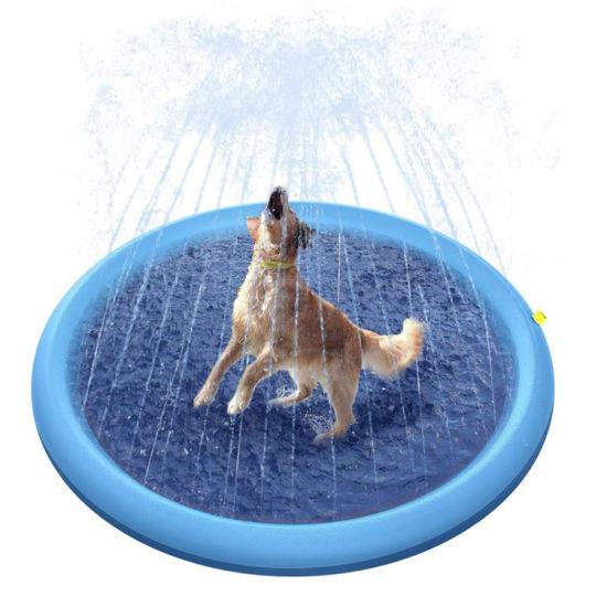 2021 Upgrade Spladh Pad Pet Sprinkler Toys Inflatable Pool