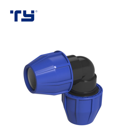 Full Form PP Plastic Pipe Irigation Compression Joint Fitting ISO14236 BS