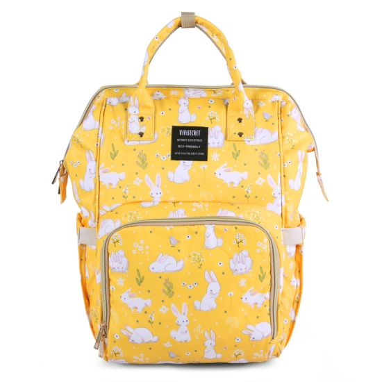Printing Changing Tote Bag Multi-Function Waterproof Maternity Nappy Baby Diaper Mama Backpack