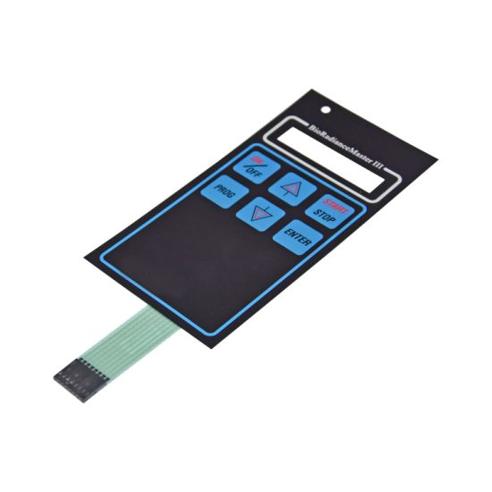 Embossed Type Graphic Overlay Membrane Keypad with Display Window