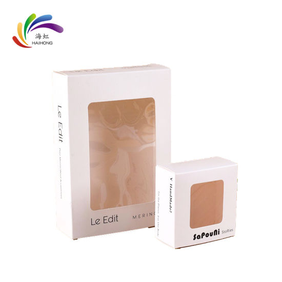 Wholesale Custom Colorful Printed Paper Box Packaging with Window pictures & photos