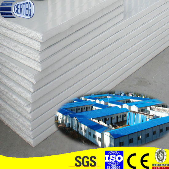 Blue Pre-Printed Galvanized White PU Sandwich Roofing Panels pictures & photos