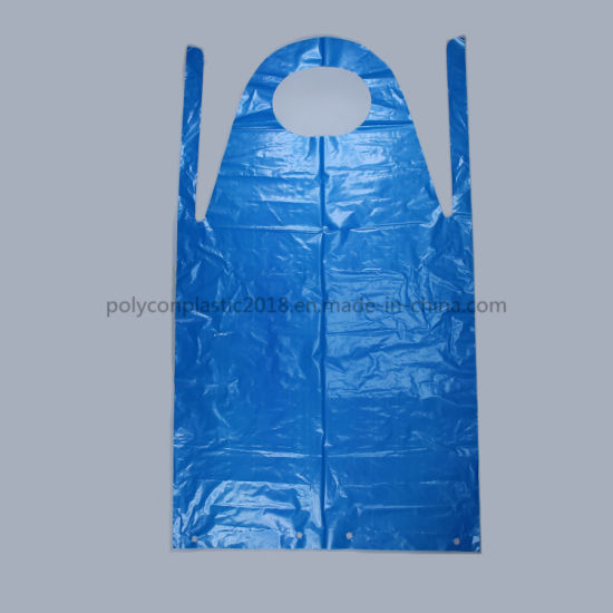 China Factory Custom Disposable PE Surgical Plastic Apron Blocked Packed