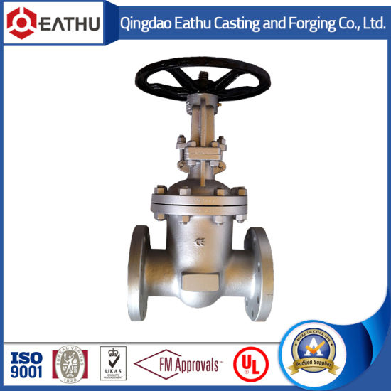 DIN Flanged Resilient Seat Non-Rising Stem Gate Valve pictures & photos