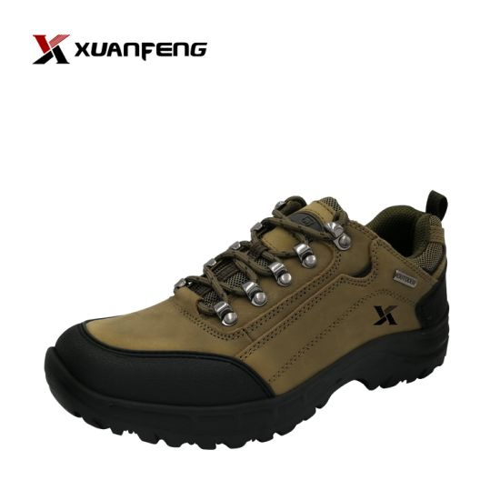 Wholesale Custom High Quality Men's Outdoor Leather Hiking Trekking Shoes