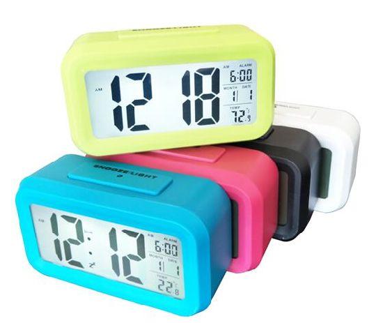LED Color Change Digital Alarm Clock with Custom Logo Print
