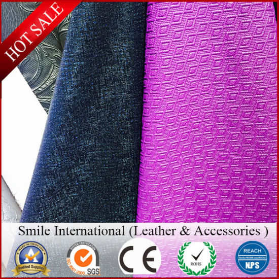 Decorate PVC Synthetic Leather for Furniture Wholesale Artificial Leather pictures & photos