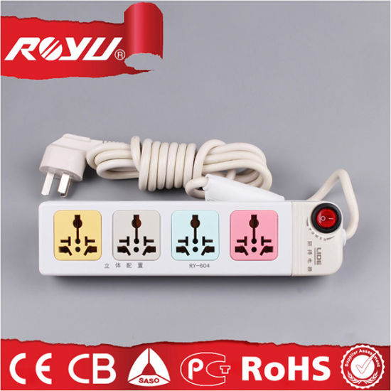 220V Power Flat Electrical Power Extension Cord for Home