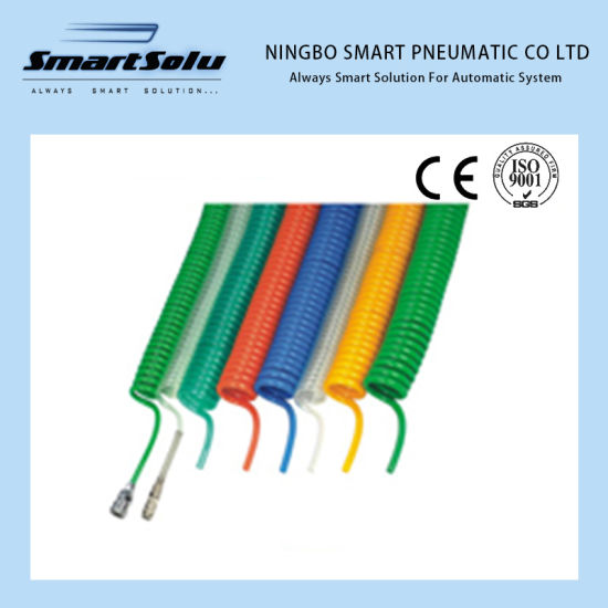Ningbo Smart Plstic Spiral Tube PU Coil Polyurethane Pneumatic Hose