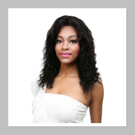 Hot Sale and High Quality Lace Frontal Wigs Natural Black Human Hair Wholesale Loose Wave
