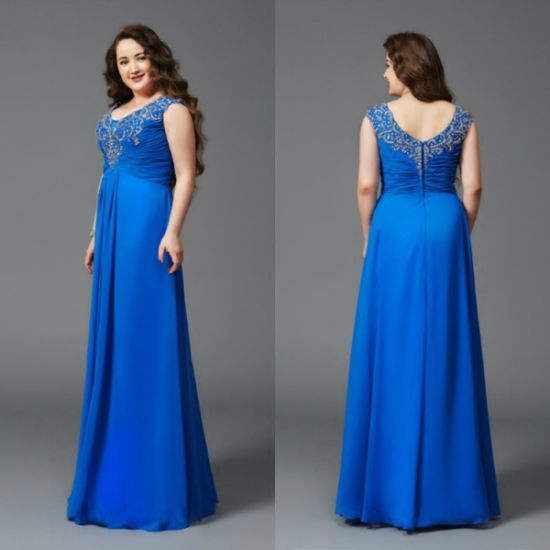 6645adf39 Plus Size Formal Gown Chiffon Bridesmaid Evening Dress Bx2016 pictures &  photos