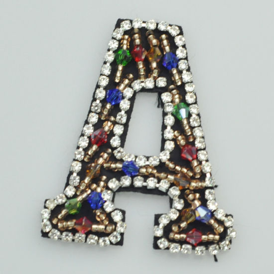 Wholesale Beaded Patches Letters and Numbers Patch