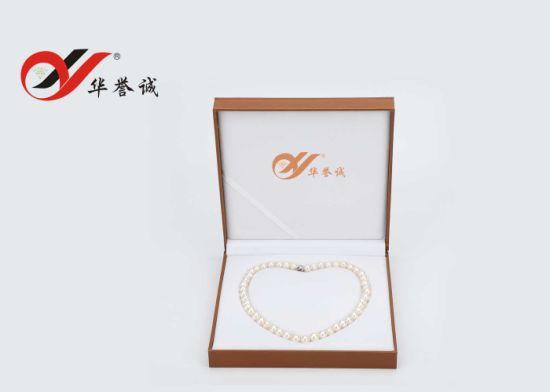 Inside Heart Shape PU Leater Pearl Necklace Box pictures & photos