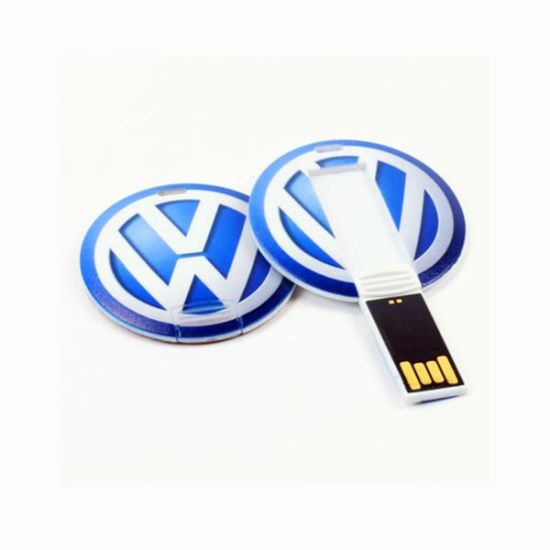 Round Shaped Mini Credit Card USB Flash Drive with Full Color Logo pictures & photos
