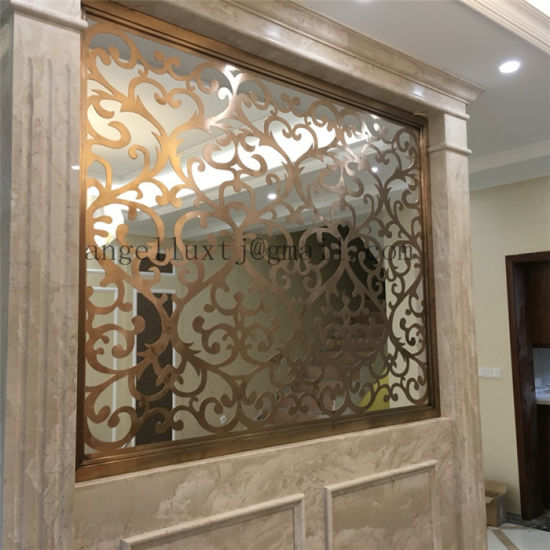 OEM ODM Custom Furniture Stainless Steel Decorative Screen Hall Partition Wall pictures & photos