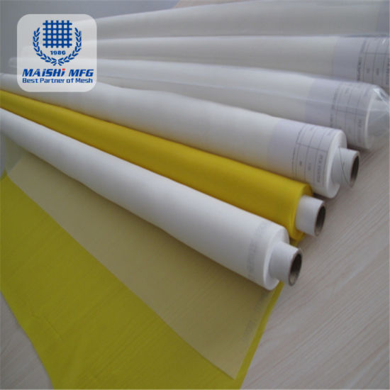 Yellow and White Color Polyester Silk Printing Mesh