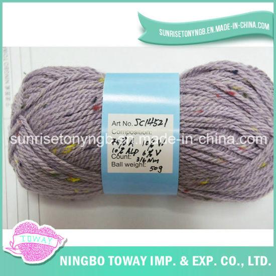 Crochet Yarn Cheap Fancy Wool Acrylic Yarn for Knitted Cardigan
