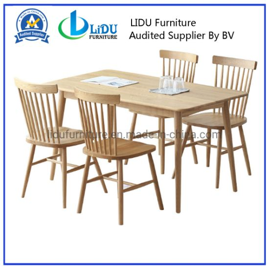 China Wood Table And Chairs Home Solid Wood Table With Chairs Dining Room Set Modern Solid Wood Dining Table Design China Dining Room Set Multi Colored