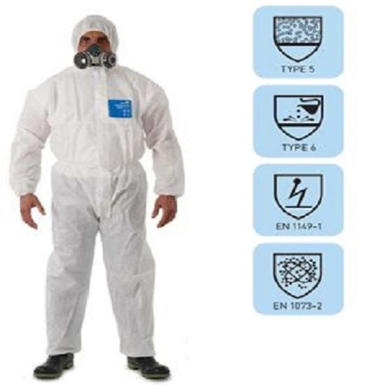 Eco-Friendly & Anti-Bacterial S. F Nonwoven Fabric Protective Coverall pictures & photos