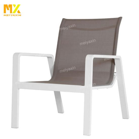 Meiyaxin Modern Outdoor Aluminium Sofa Set with Arm (accept customized)