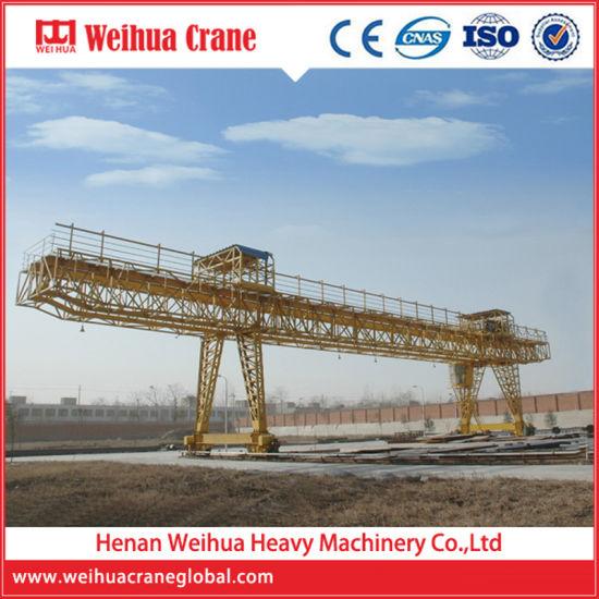 Weihua Truss-Type Mobile Double Girder Gantry Crane for Engineering Construction