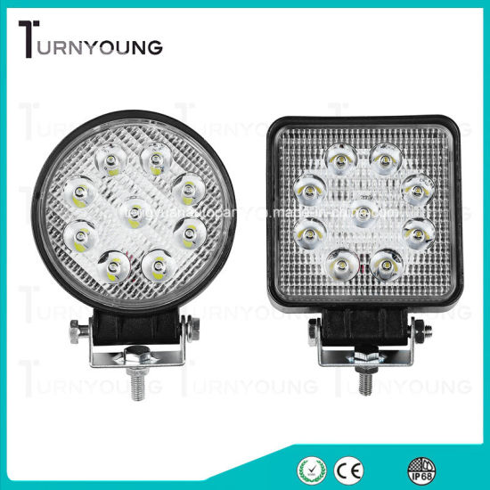 LED Work Light 4.3 Inch 27W off-Road Spot Beam