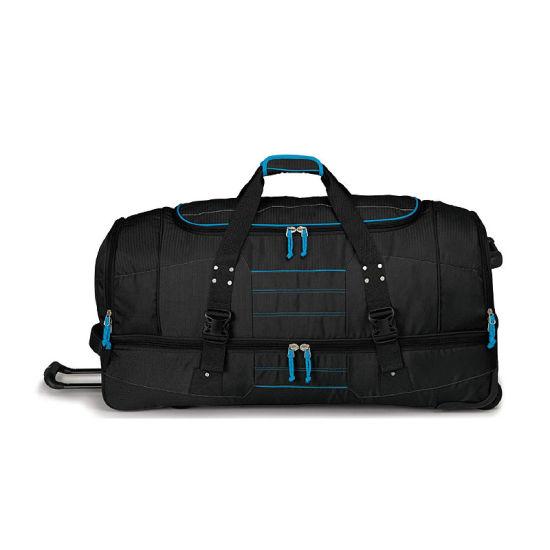 Waterproof High Capacity 36-Inch Drop-Bottom Wheeled Duffel, Trolley Gear Bag, Wheelies Travel Bag