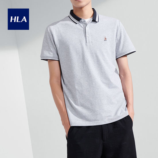 Hla Pearly Skin-Friendly Polo Shirt 2020 Summer New Product Comfortable Short T Male