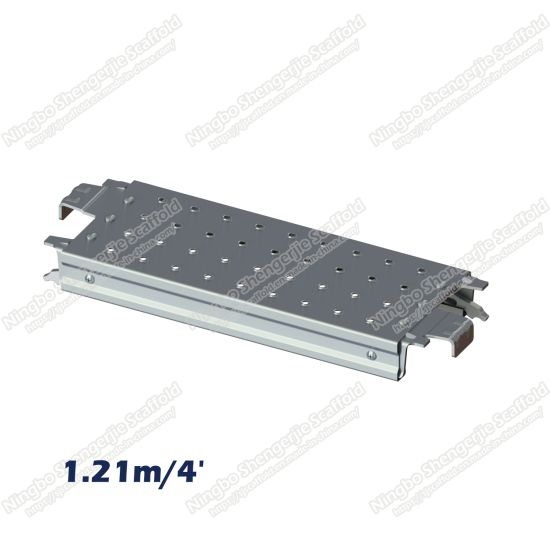 1.21m/4' Steel Plank O-Type 0.24m Pcg for Ringlock Scaffold
