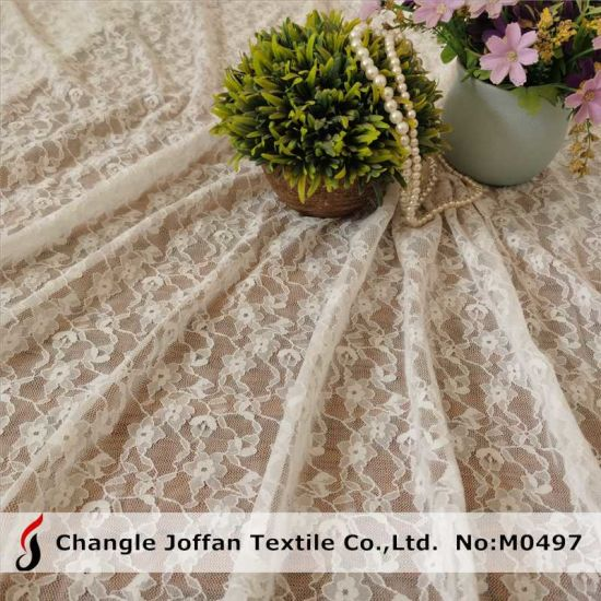 Wedding Dress Fabric Allover Elastic Stretch Lace Fabric Voile Lace (M0497)