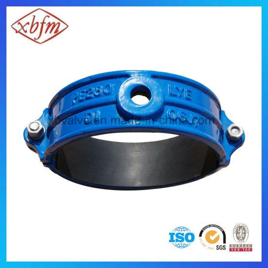 China PVC Pipe Fittings Ductile Iron Saddle Clamp - China
