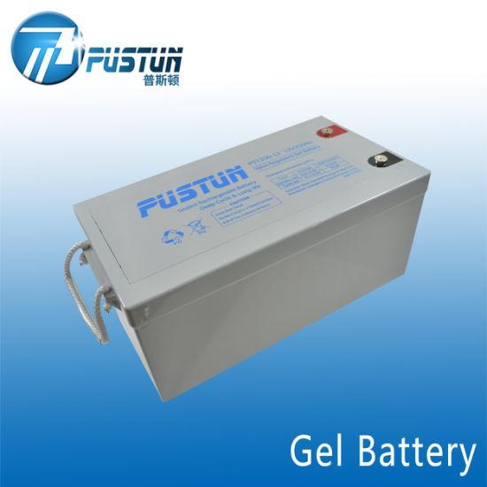 Pustun Hot Sales 250ah 12V Rechargeable Gel Deep Cycle Battery for Solar/UPS Backup System