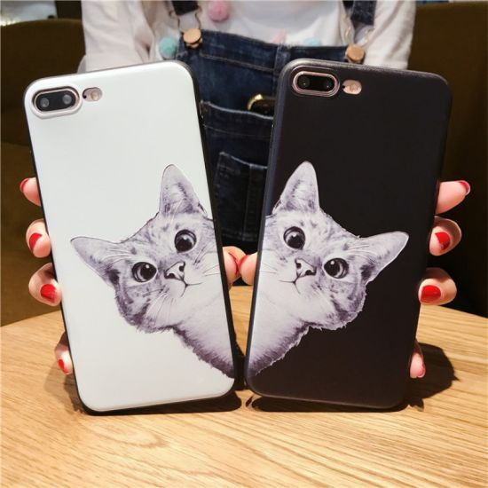 Black and White Cat Mobile/Cell Phone Cover/Case for iPhone 6/7/6plus/7plus pictures & photos