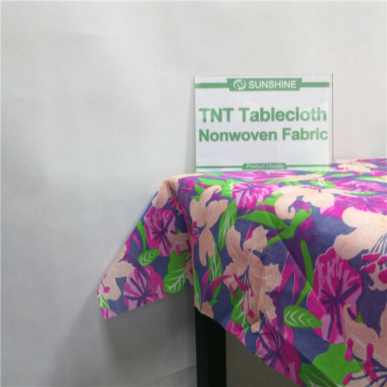 Hot Sells PP Spunbond Non Woven Table Cover Fabric pictures & photos