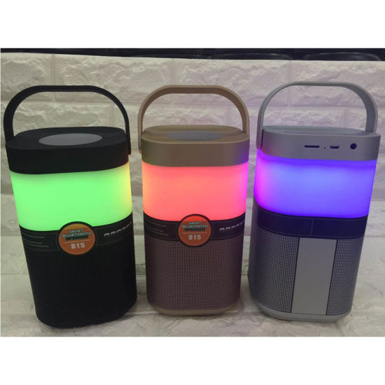 Hot Selling Wholesale B15 Touch Switch LED Light Wireless Bluetooth Speaker