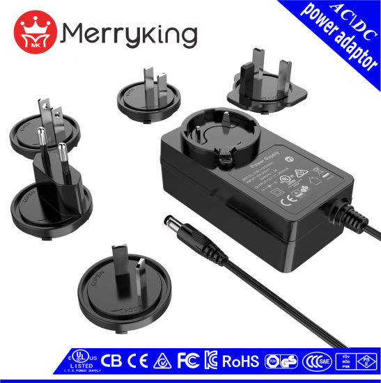 36W/48W Interchangeable AC DC Adapter Free Samples 14 Years Experience