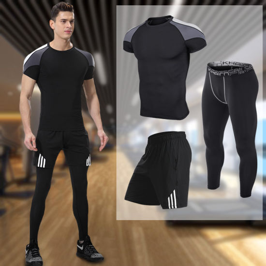 china wholesale sports training men′s gym clothing sport