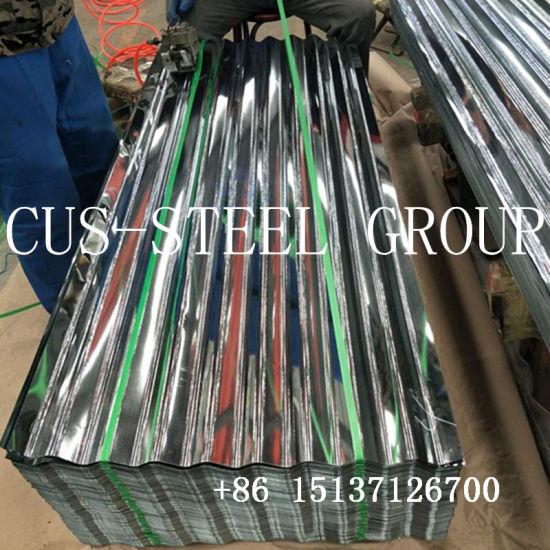 Zero Regular Spangle Hot DIP Galvanized Corrugated Gi Metal Steel Roofing Iron Sheet