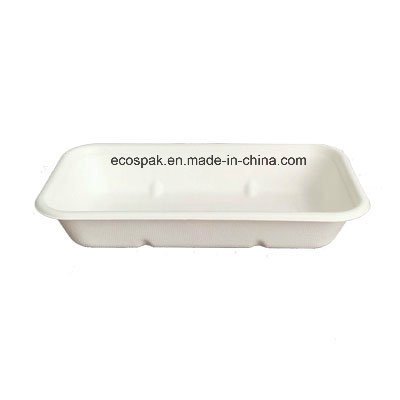 Biodegradable 100% Compostable Disposable Paper Tableware Bagasse/Sugarcane 750ml Tray