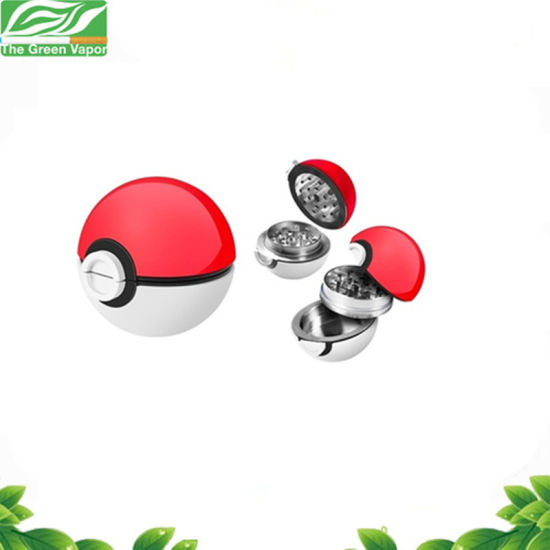 Smoking Accessories 53mm 3 Parts Metal Zinc Alloy Pokeball Spice Grinder