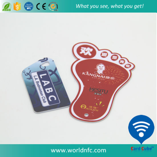 Customized Non-Standard Plastic RFID Smart Cards pictures & photos