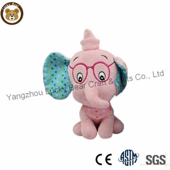 Cute Soft Short Plush Forest Animal Elephant Toys for Baby Girls