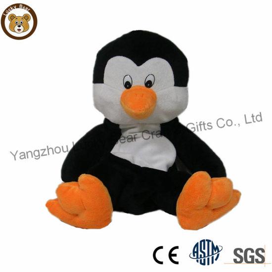 Wholesale Unstuffed Animal Penguin Skins Plush Toy Fur Fabric