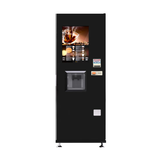 Coin and Note Operated Espresso Coffee Vending Machine with 22 Inch LCD Screen