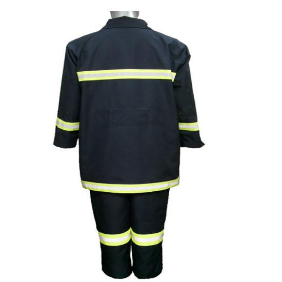 Fireman Suit Uniform Fire Resistant Suit with Helmet / Gloves / Boots / Belt for Fire Fighting